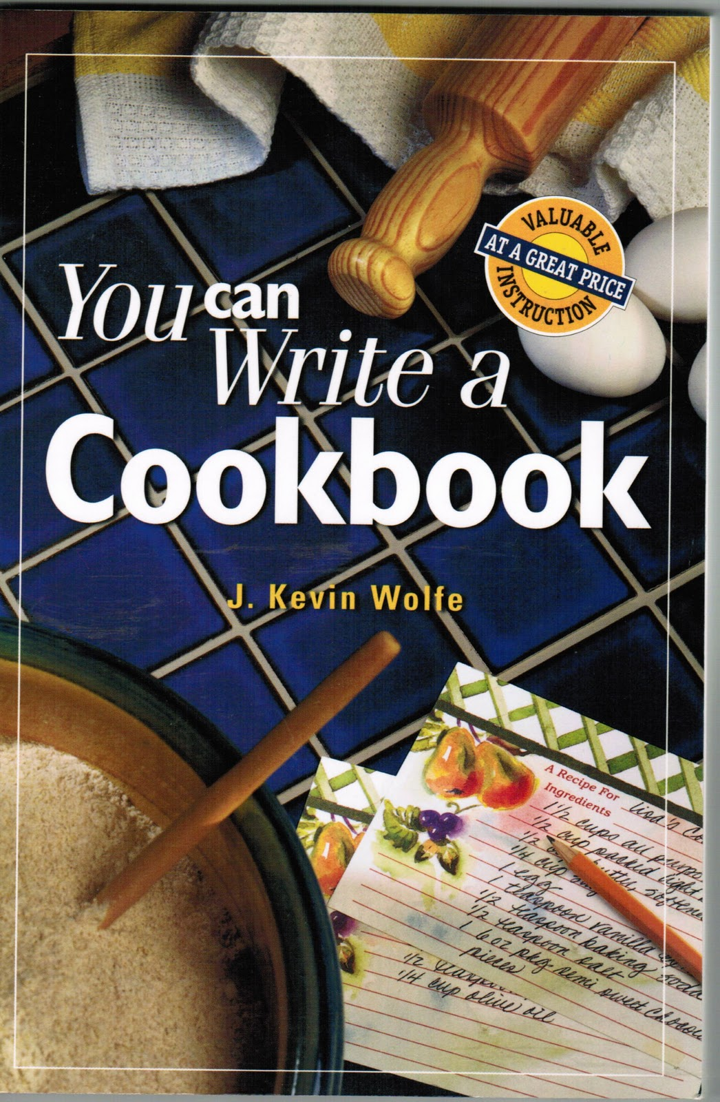 how to write a cook book
