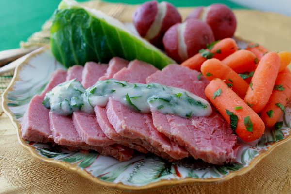 Corned Beef and Cabbage with sauce 2