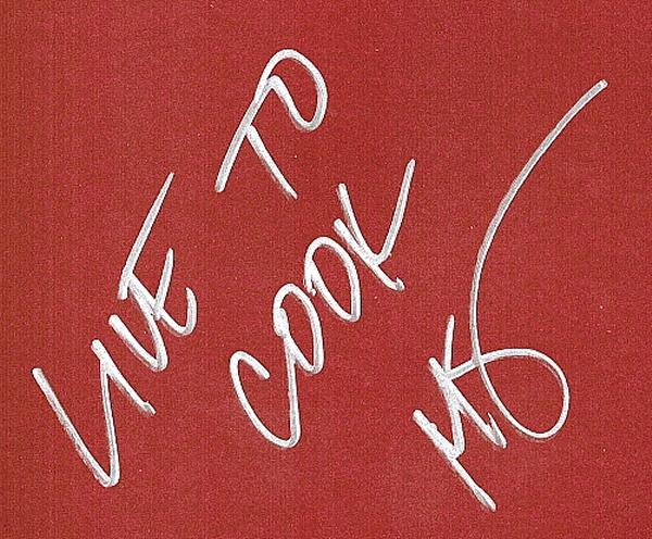 Michael Symon Carnivore inscription
