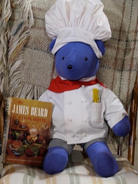James Beard bear and cookbook