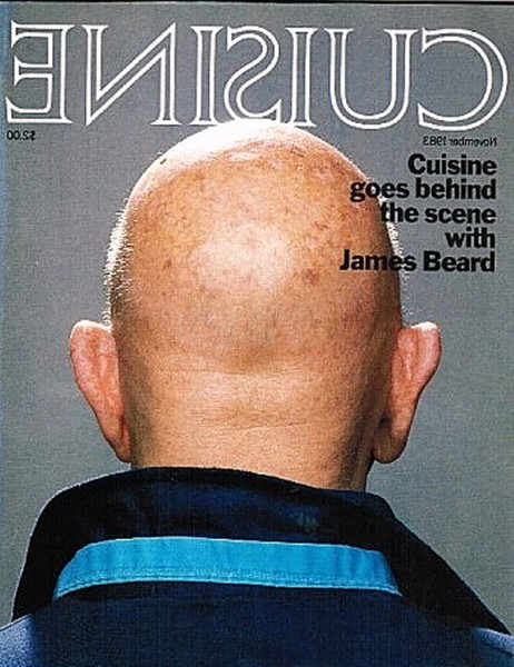 James Beard on Cuisine cover back view