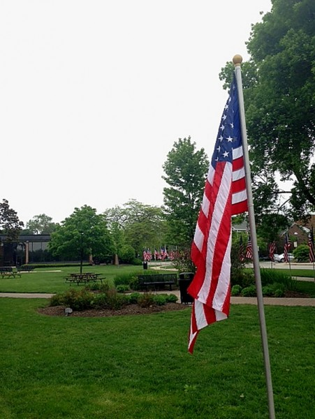 Memorial Day Cook Park one flag