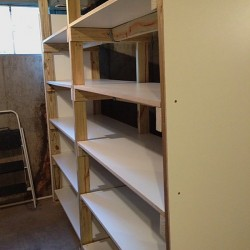 Basement 3rd shelf up