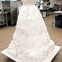 Cake Boss wedding dress giant cake
