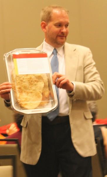Bread auction of winning cracker bread