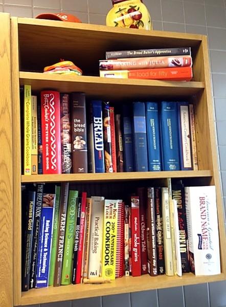 Bread cookbooks in test kitchen