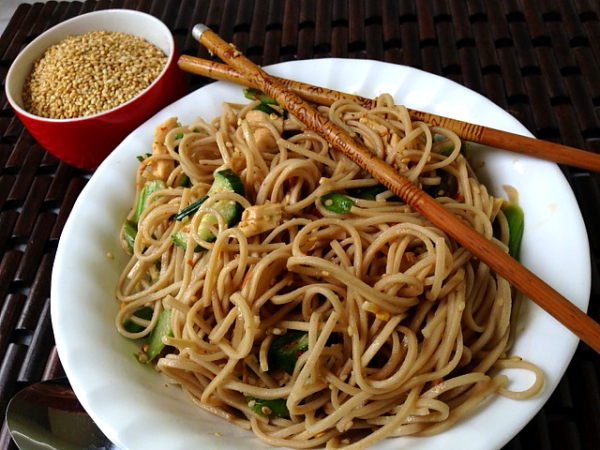 Chinese noodles on plate last
