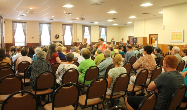 Wecker audience at book signing