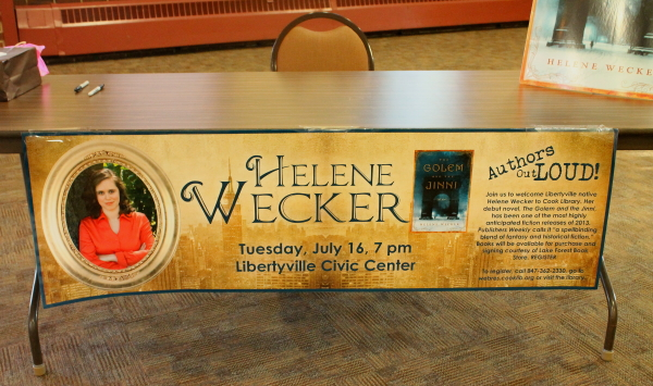 Wecker book signing table
