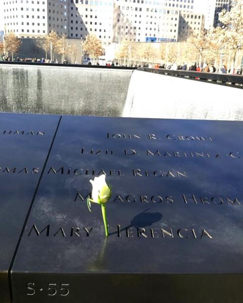 September 11th memorial stone