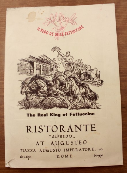 Clem Italy Ristorante Alfredo menu cover