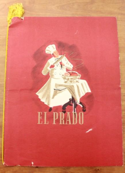 Clem Spain El Prado menu cover