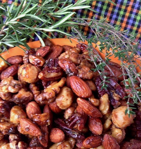 Herb nuts with fresh herbs 2