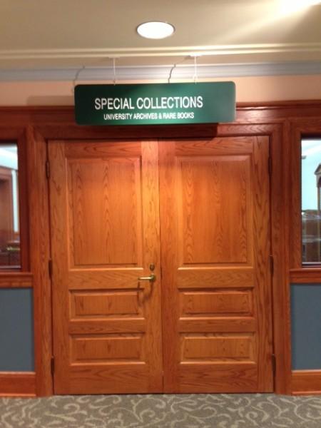 Clem library door