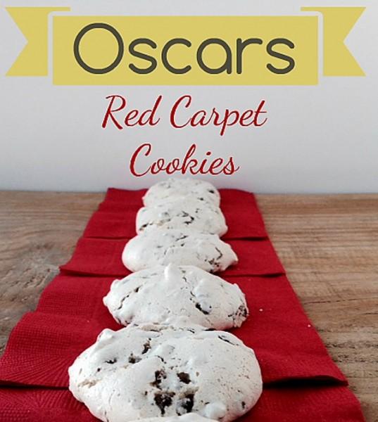 Oscar Meringue Red Carpet Cookies