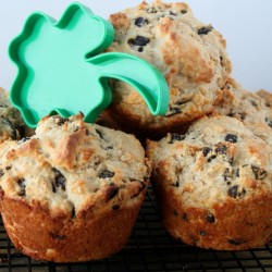Irish Soda Muffins with shamrock