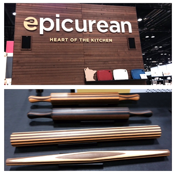 Home Show 2014 Epicurian sign and rolling pins