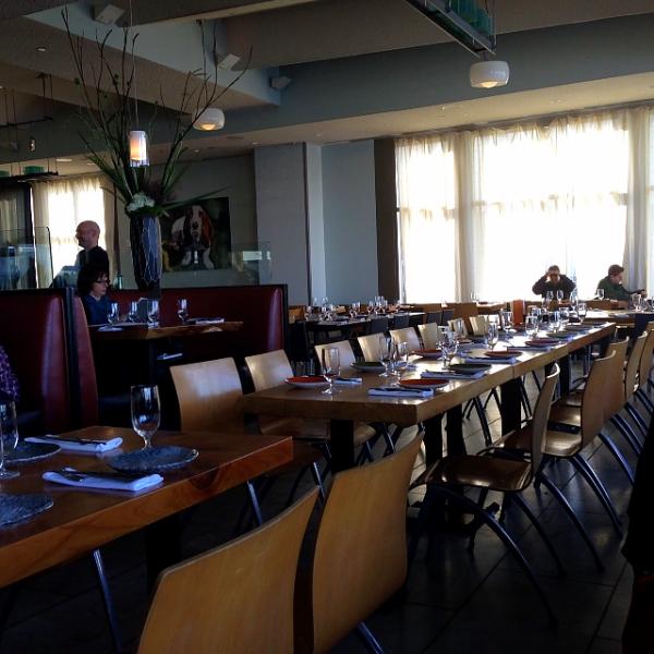 Slanted Door empty tables