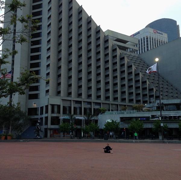 Slanted Door hotel rock seller spot