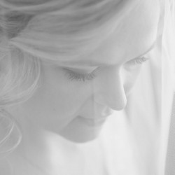 Wedding Kara behind veil
