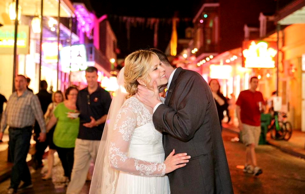 Wedding image photo on the streets of New Orleans