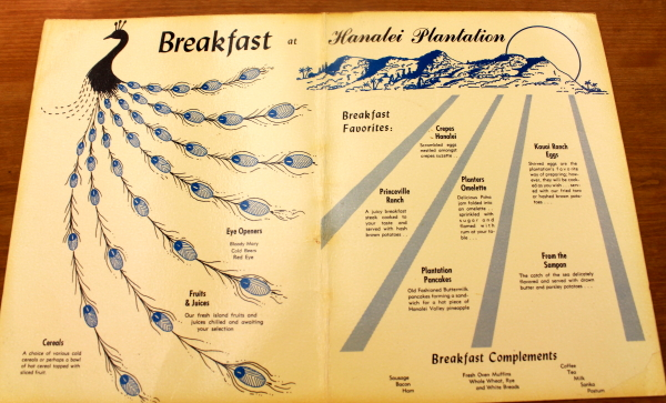 Clem Hawaii plantation menu