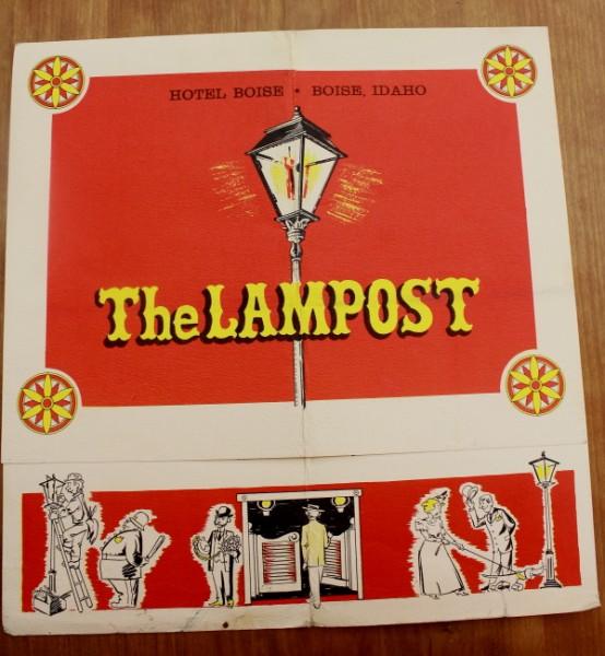Clem Idaho The Lampost menu cover