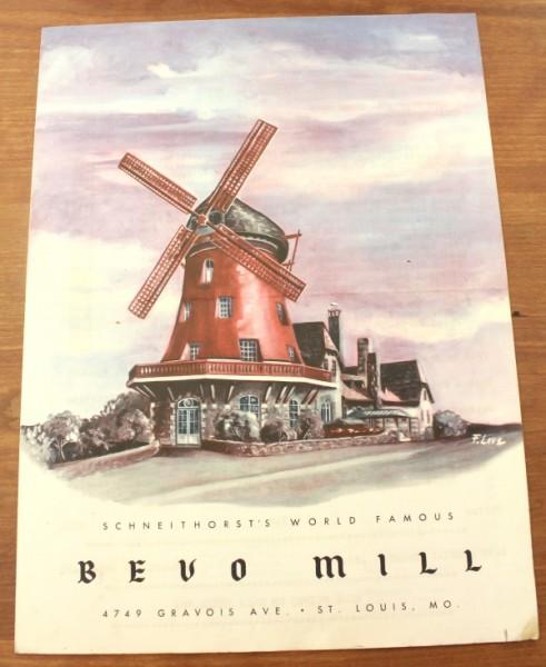 Clem Missouri Bevo Mill menu cover
