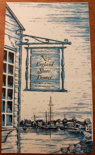 Clem New England Shore Dinner menu cover