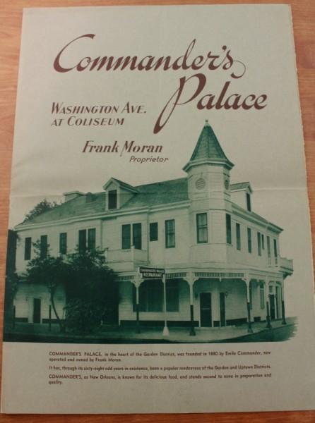 Clem New Orleans Commander's Palace