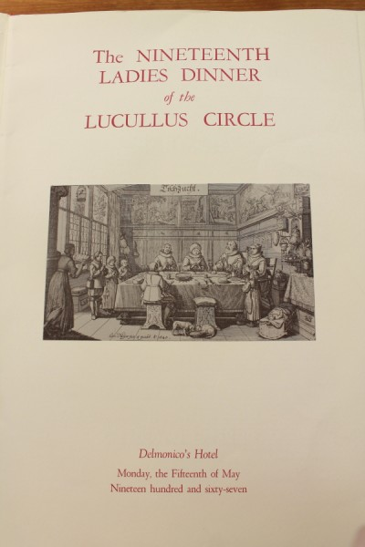 Clem New York Delmonico's Hotel Lucullus Circle