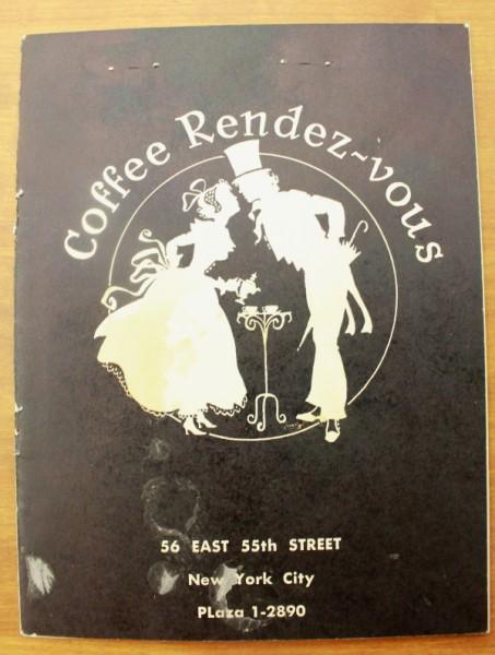 Clem New York menu cover Coffee Rendez-vous