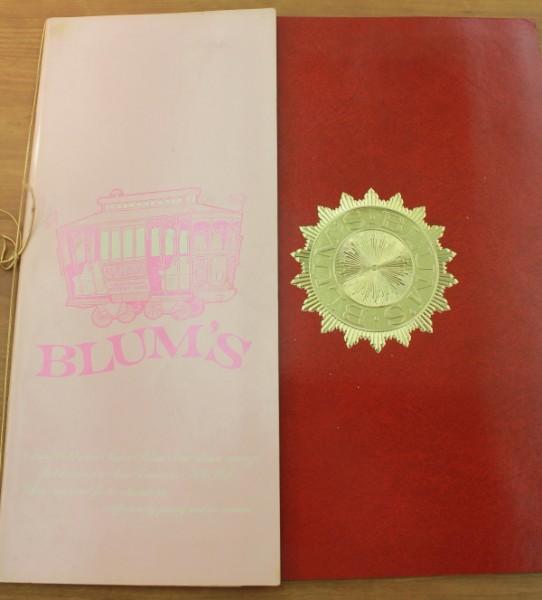 Clem San Francisco Blum's menu