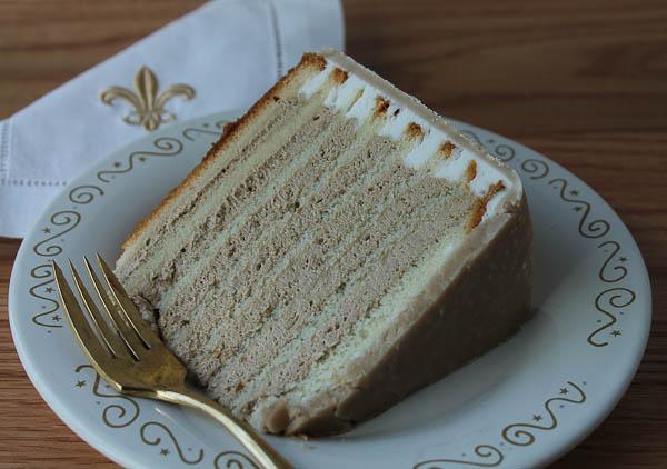 Doberge cake slice
