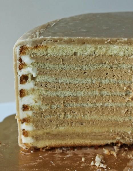 Doberge cake whole cut