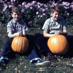 Paul and Alan with pumpkin