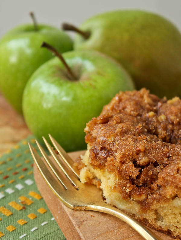 Apple Cake Mix Sour Cream Slice