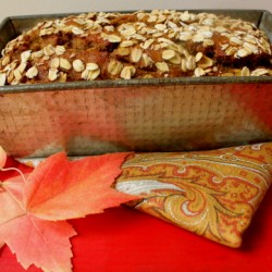 Pumpkin Oatmeal Bread in pan 2