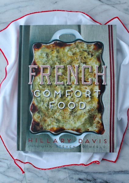French Comfort Food cover with napkin