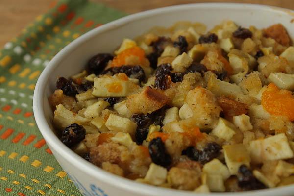 Fruit Stuffing white bowl