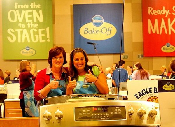 PBO 46 Julie and Naylet on Bake-Off floor