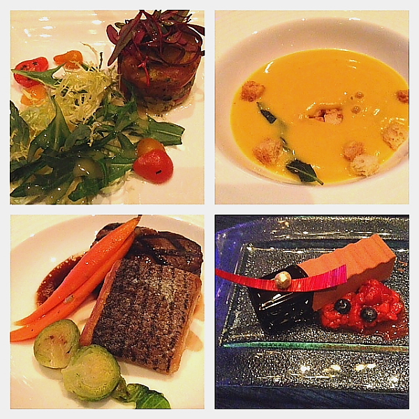 PBO 46 awards dinner collage of meal
