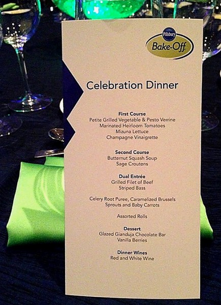 PBO 46 awards dinner menu