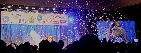 PBO 46 winner on screen with Padma