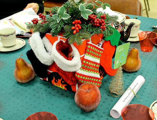 Advent tea Christmas stockings