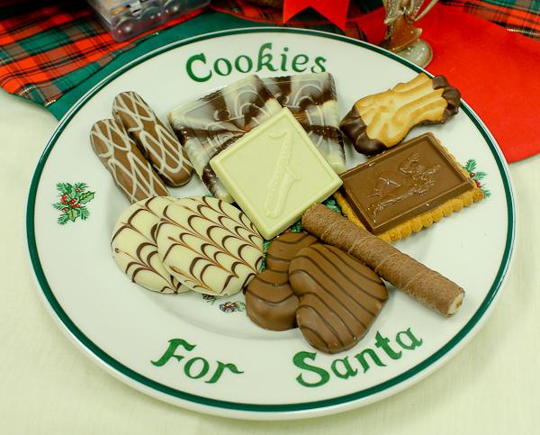 Advent tea Cookies for Santa plate