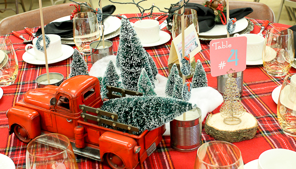 Advent tea fire truck