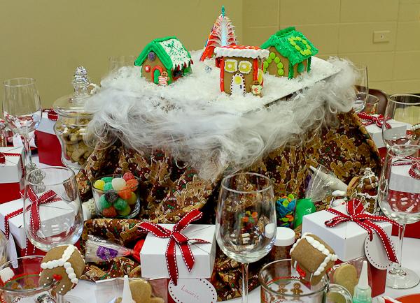 Advent tea gingerbread houses