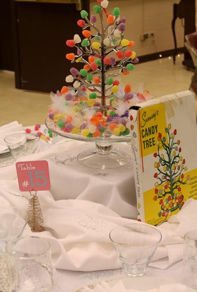 Advent tea gumdrop tree