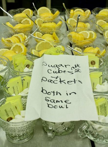 Advent tea lemon and sugar bowls